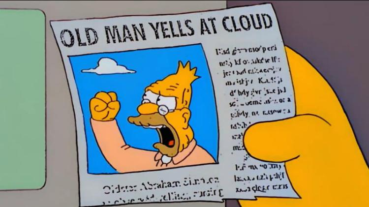 Man yells at cloud