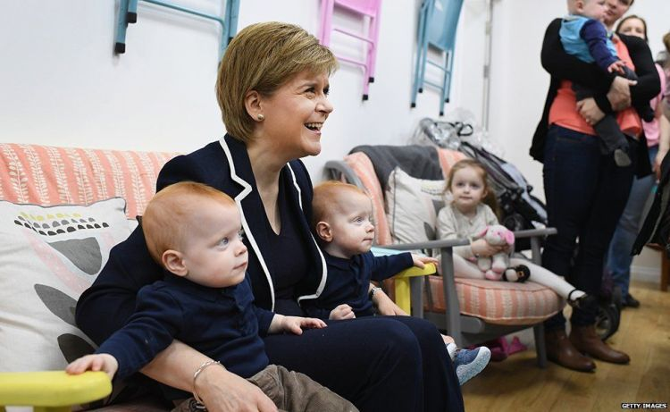 Nicola with Babies