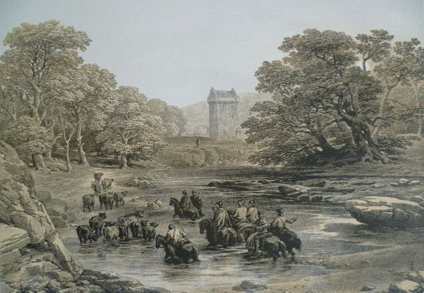 Blog 7 - Borders 1200px-Reivers_raid_on_Gilnockie_Tower