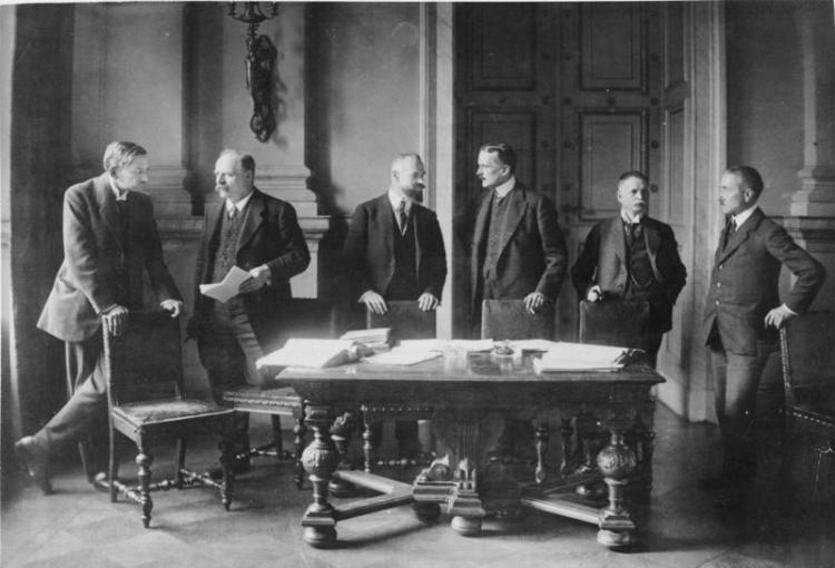 Versailles, deutsche Verhandlungdelegation