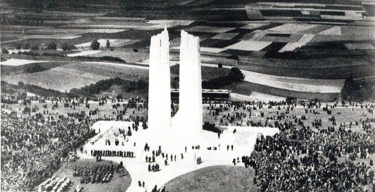 Vimy+unveiling+26-07-1936